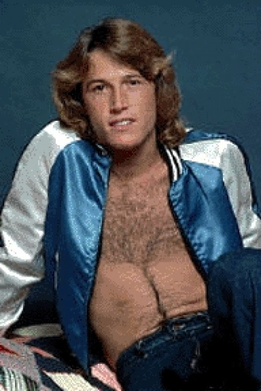 Andy Gibb sexy time pose