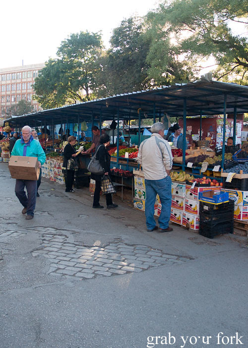 locals shopping at Zhenski Pazar Jenski Pazar Women's Market Sofia