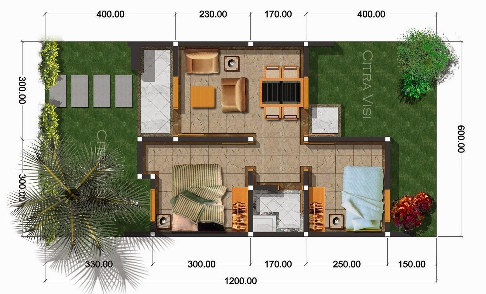 Denah Rumah 3 Kamar Ukuran 7x9 Paling Dicari Bagus Livedesaincom