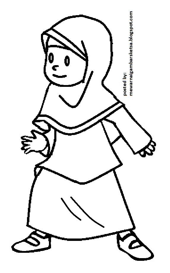 Mewarnai Gambar Bunga Anak Muslim 23 Auto Electrical Wiring Diagram