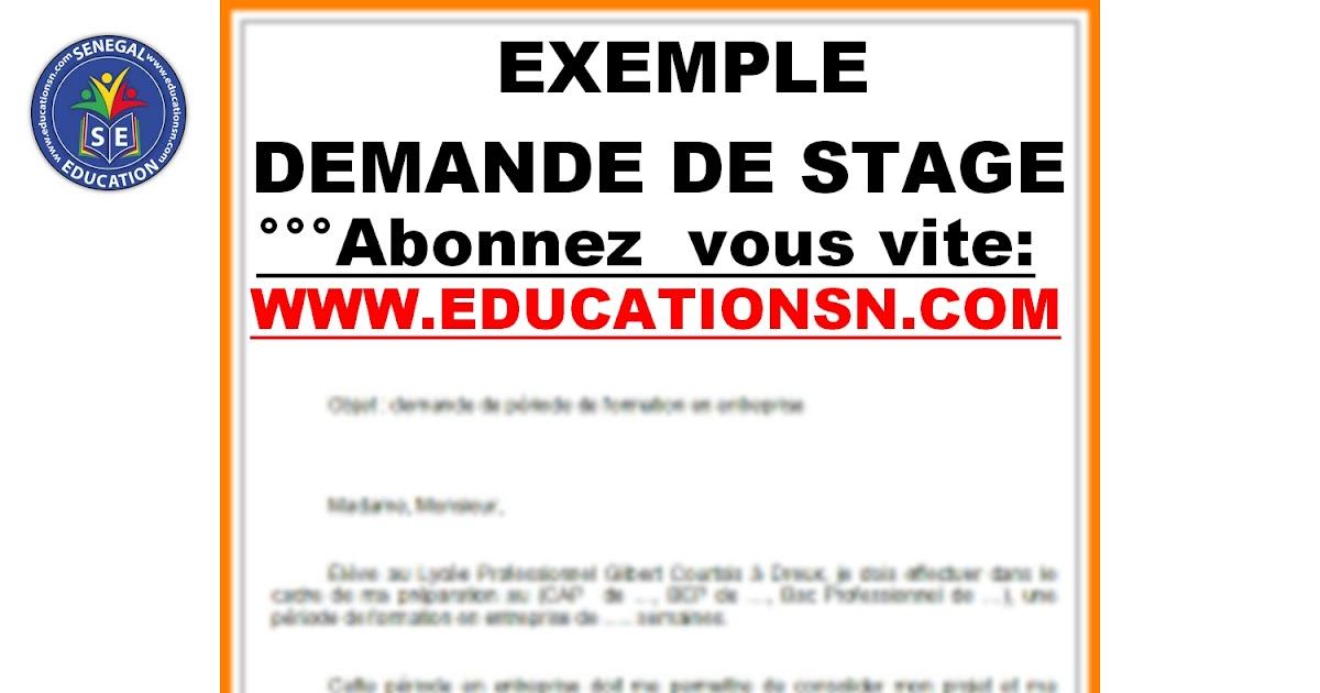 lettre exemples: Exemple De Lettre De Demande Stage Pdf