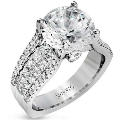 "Simon G. Large Center ""Cathedral Style"" Diamond Engagement"