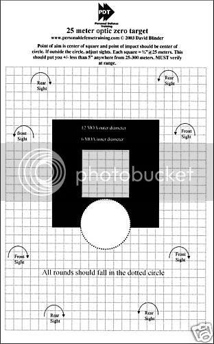 Printable 25yd zero targets | Springfield XD Forum