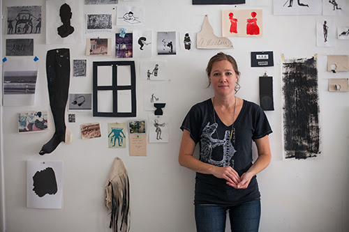 Amy Pleasant in her studio, 2013. Photographed by Jason Wallis.