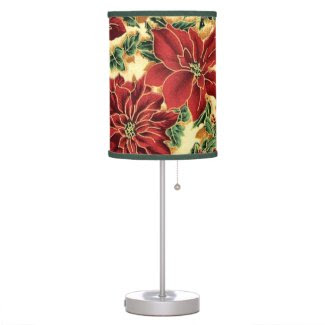 Christmas Floral Pattern Table lamp