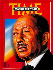 President Sadat on the time cover for the fourth time