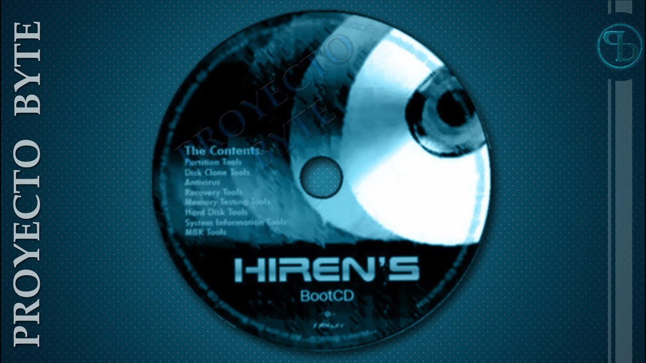 Hiren's BootCD v.9.9 mantenimiento pc y mas descarga iso(sistema booteable sin instalar)