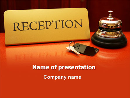 Hotel Reception Presentation Template For Powerpoint And Keynote Ppt Star