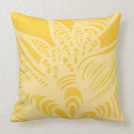 Abstract - Yellow - Pillow throwpillow