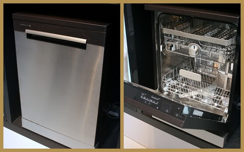 Leather-clad dishwasher from De Dietrich