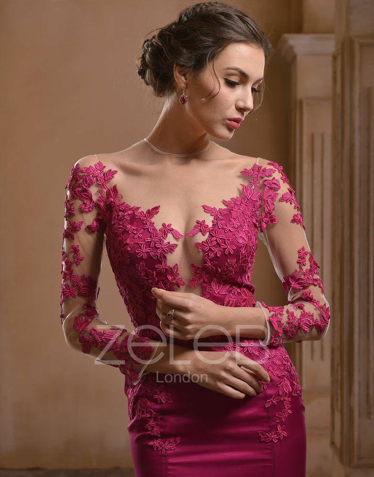 Lace evening dress pinterest