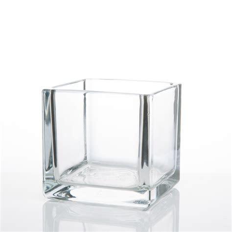 Square Glass Vases 4x4