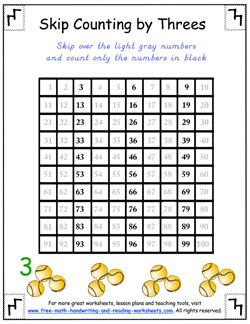 skip counting by threes 01