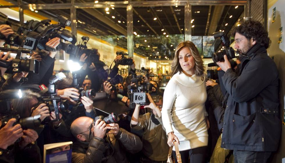 Arantxa Sánchez Vicario en la presentación de su libro.