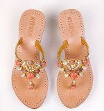 Mystique Gold and Coral Sandal