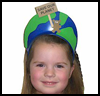"""""""Save our Planet"""" Earth Day Visors : Globe Geography Crafts Projects for Children"""