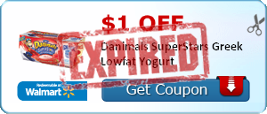 $1.00 off Danimals SuperStars Greek Lowfat Yogurt