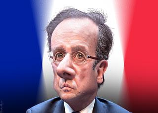 François Hollande - Caricature