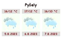 Počasí Pyšely - Slunečno.cz