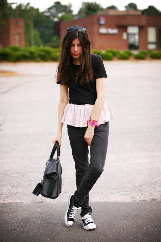 Superfine skinny jeans, Chuck Taylor All Star, Fashion outfit, Puma watch, Givenchy Nightingale bag