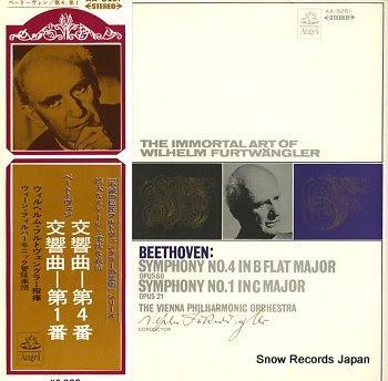 FURTWANGLER, WILHELM beethoven; symphony no.1 / no.4