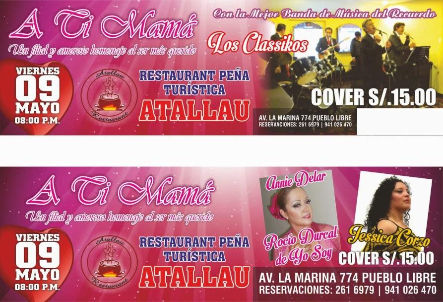 RESTAURANT ATALLAU - INVITACION DIA DE LA MADRE