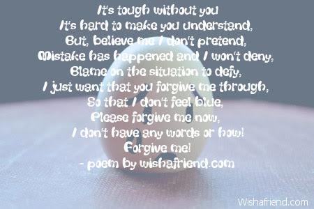 Forgive Me Poems