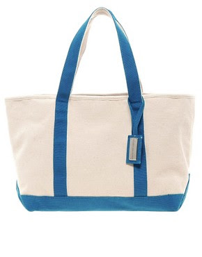 Image 1 ofFrench Connection Canvas Beach Bag