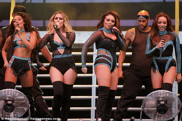 Superstars: Little Mix wowed the crown at Newmarket racecourse with their classic hits