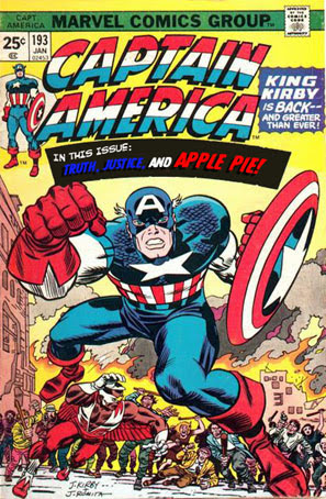 Altered version of Captain America #193