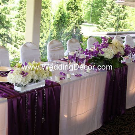 Wedding and corporate Head table Decorations ideas and rentals