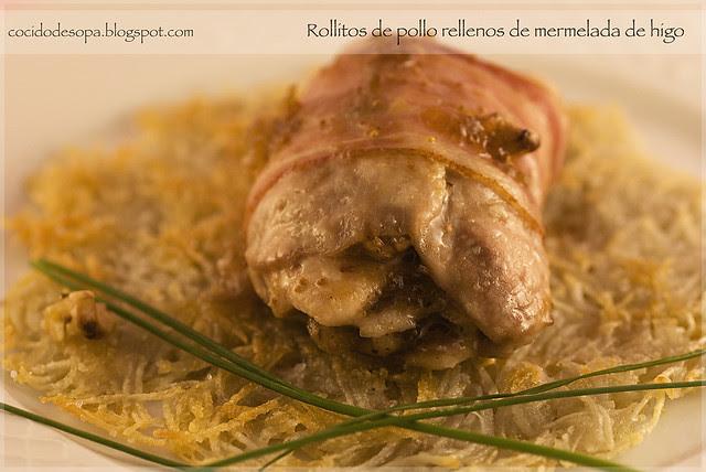 Rollitos pollo mermelada higo_0