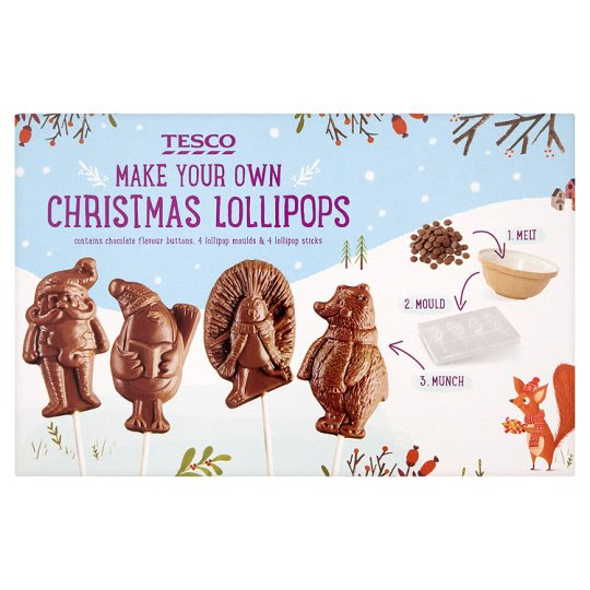 Tesco Make Your Own Christmas Lollipop 100G