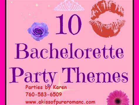 Bachelorette Parties, with Karen Ellis, a Pure Romance