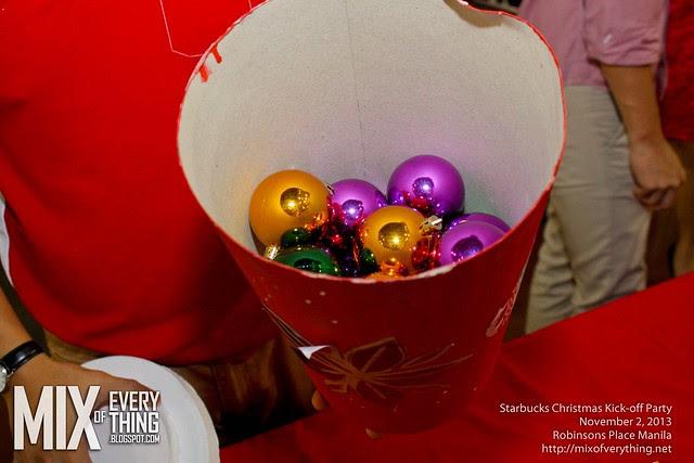 Starbucks Christmas Kickoff party