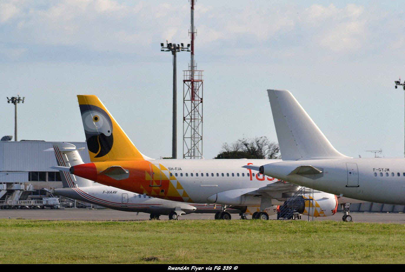 fastjet A319 5H-FJA in Montpellier