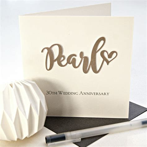 Pearl 30th Wedding Anniversary Card   Shop Online