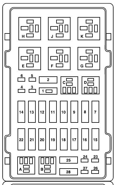 2004 E150 Fuse Box Diagram
