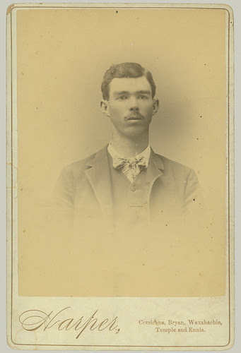 Cabinet Card portrait of a man head and shoulders