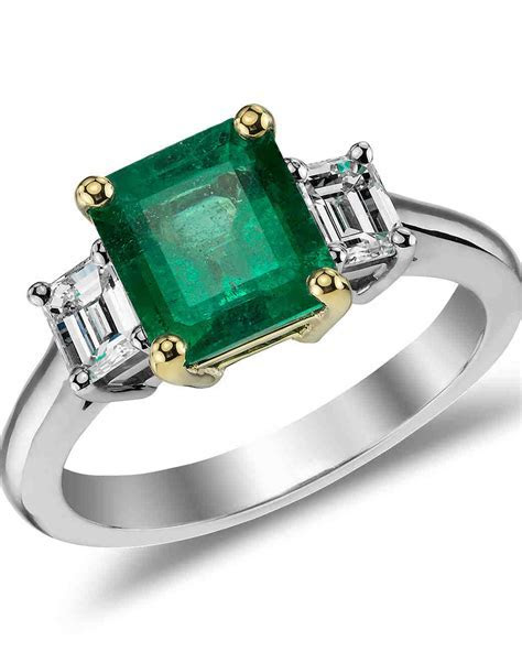 Emerald Engagement Rings for a One of a Kind Bride