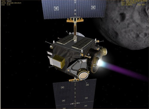 Dawn at Ceres - Ion Engine Firing