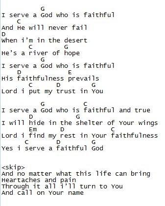 Forever God Is Faithful Lyrics And Chords Key Of D