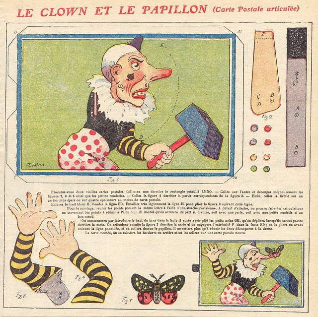 clown et papillon