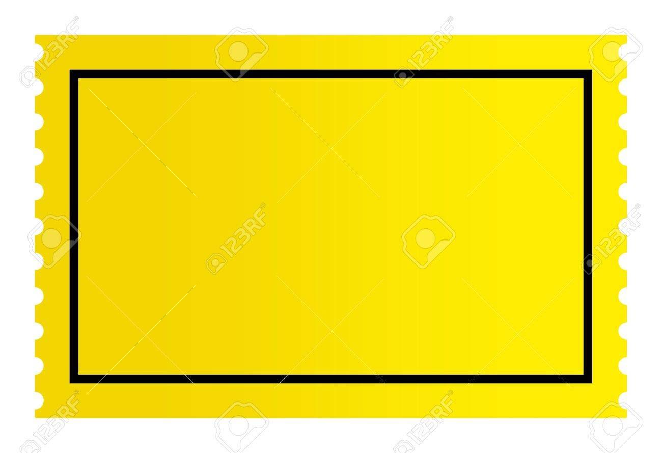 Blank Golden Ticket Isolated On White Background. Stock Photo ...