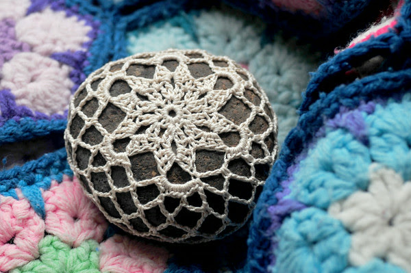 Lavender Snowflake Rock
