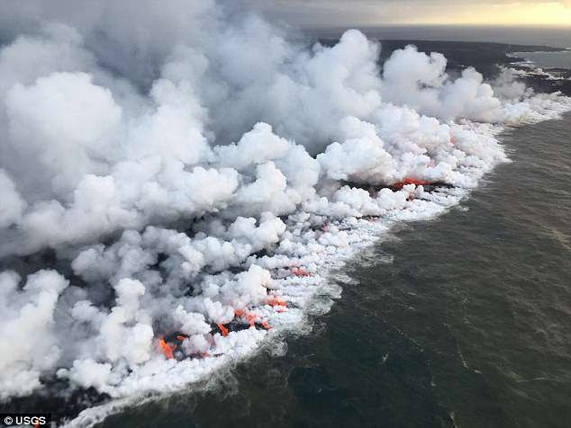 According to the US Geological Survey, 23 separate new fractures there became volcanic fissures from which lava was erupted