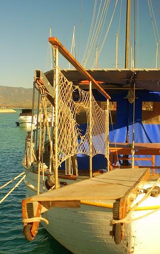 boat in Latchi harbor