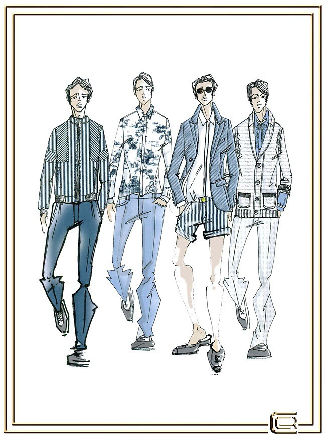 3 CLASS Roberto Cavalli Menswear SS2013