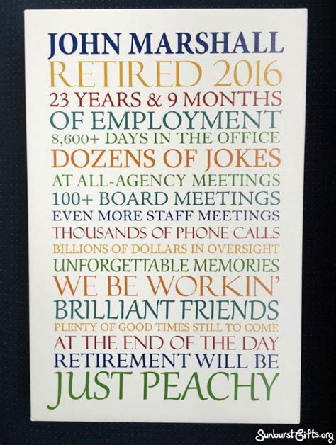 Customized Word Art Canvas   Retirement Gift   Thoughtful