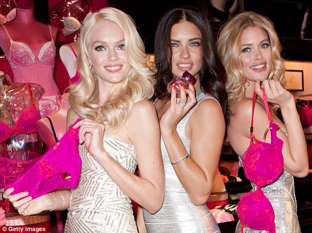 The goods: The women also showed off the current range for the lingerie giant